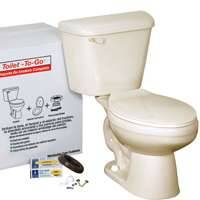 American Standard Brands 0672972 Toilet-To-Go Elongated Bone