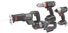 Porter-Cable PCL418IDC-2 Lithium 4 Tool Combo Kit 18v