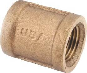 Anderson Metal 8955965 Coupling Brass 1 Mpt