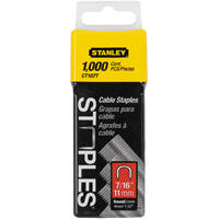 Stanley Tools CT107T Round Cable Staples 7/16 1000 Pack