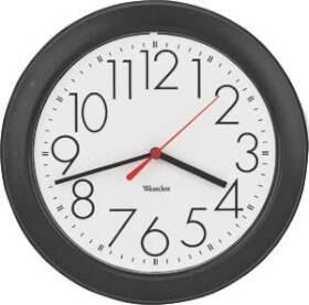 Westclox 461861 10 Round Black Wall Clock