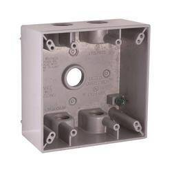 Bell Weatherproof 5337-0 Rect Bx 2g 5-1/2 Outlets Gray