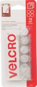 Velcro Usa Inc 91328 5/8 in Velcro Clear Coin 15pc