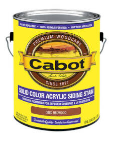 Cabot CABOT STAIN Stain Solid Acry Siding Redwd
