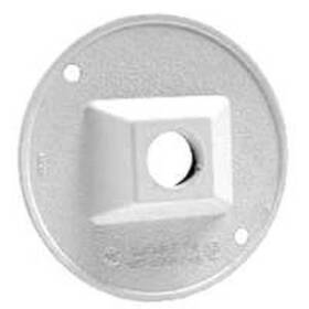 Bell Weatherproof 5193-1 Round Cover 1-1/2 Outlet White