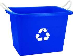 United Plastics TU0105 19 Gal Recycling Tub Rect