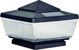 Boston Harbor QPP3-R4-BK-B1 Solar Post Cap Black 4 Lumen