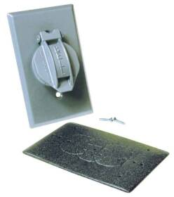 Bell Weatherproof 5155-5 1g Gray Vert Single Receptacle Cover