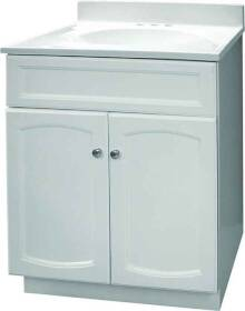 Foremost Groups HEW2418 24x18 White Heartland Vanity Combo
