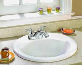 American Standard Brands 1618V-100 Drop-In Lavatory/Bathroom 19 in Round White