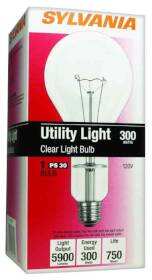 Sylvania/Osram 15740 300 Watt PS30 Clear Incandescent Bulb