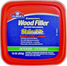 Elmer's Products E891 Stainable Wood Filler Tub Pt