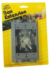 Bell Weatherproof 5400-5 1gang Extension Box/Adapter Gry