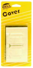 Bell Weatherproof 5180-6 1g White Duplex Receptacle Cover
