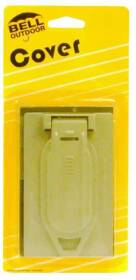 Bell Weatherproof 5146-5 1 Gang Gray Weatherproof Duplex Receptacle Cover