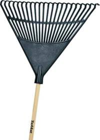 Toolbasix 30992 EP22OR 22-Inch Poly Leaf Rake 48 in Wood Handle