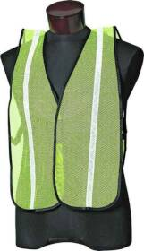 Jackson Safety 3017591 Lime With White Reflect Vest 1sz