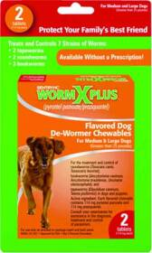 Sergeant's Pet 17703 2ct Wormx Plus Large Dog