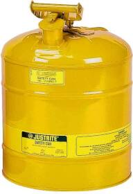 Justrite Mfg Company 7150200 5 Gal Yellow Type 1 Safety Can