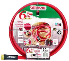 Gilmour 29-58090 Commercial Farm And Ranch Hose 5/8 in X 90 ft Red