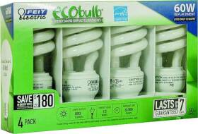 Feit Electric ESL13T/4 13w Cfl Soft White Mini-Twist Bulbs