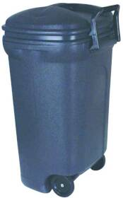 United Plastics TB0010 Trash Can Wheeled 34 Gal Rectan