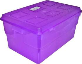 United Solutions TO0014 35 Qt Clear Plastic Storage Tote