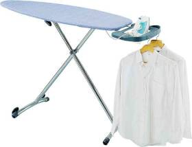 Household Essentials 974406 4 Leg Plastic Top Ironing Board With Cover