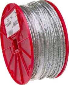 Campbell Chain 700-0327 3/32 in Uncoated Cable 500 ft