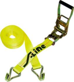 S-line 557-WHK 2 in x27 ft RATCHET Strap W/Wire Hk