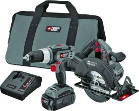 Porter-Cable PC218C-2 18v Nicad 2 Tool Combo Kit
