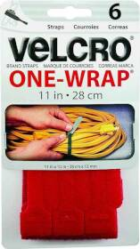 Velcro Usa Inc 90475 11 in x1/2 in red One-Wrap Strap Cd6