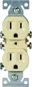 Cooper Wiring 270V Ivory Grounded Receptacle