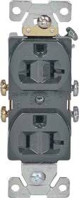 Cooper Wiring 877B-BOX 20a 3wire Ground Brown Duplex Receptacle
