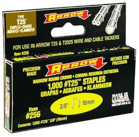 Arrow Fastener Co 256 3/8 in Staples 1000/Box