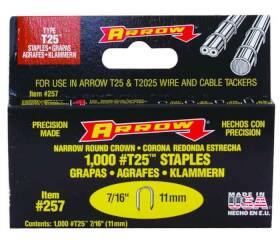Arrow Fastener Co 257 7/16 in Staples 1000/Box