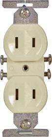 Cooper Wiring 736V-BOX 15a 2wire Std Ivory Dupl Recpt
