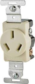Cooper Wiring 805V-BOX 20a 3wire Single Grounded Receptacle