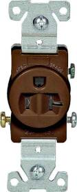 Cooper Wiring 1877B-BOX 20a 3wire Commercial Single Receptacle