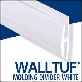 Palram Americas 92589 Walltuf Divider Mould 8 ft White
