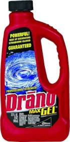 Sc Johnson 00117 32 oz Drano Max Gel Clog Removr