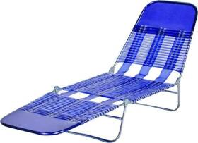 Worldwide Sourcing S65002-B Pvc Folding Chaise Royal Blue