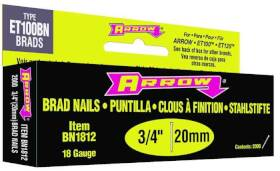 Arrow Fastener Co BN1812B 3/4 in Brown Brad Nails