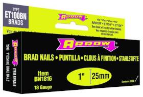 Arrow Fastener Co BN1816B 1 in Brown Brad Nails