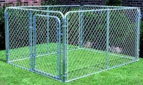 Stephens Pipe & Steel DKS16084 6 x 8 x 4 ft Dog Kennel
