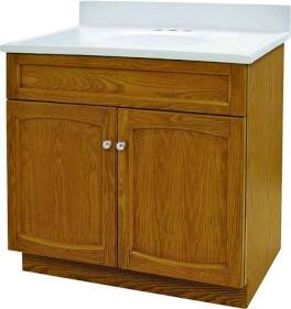 Foremost Groups HEO3018 30x18 Oak Heartland Vanity Combo