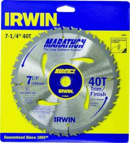 Irwin 14031 7-1/4 Trim/Finish Blade