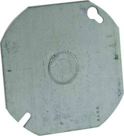 Raco 724 4 in Octagon Blank Cover W/1/2ko