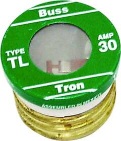 Bussmann Fuses BP/TL-30 30a Medium Duty Plug Fuse