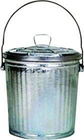 Dover Parkersburg 910/C Galvanized Metal Garbage Can 10 Gal